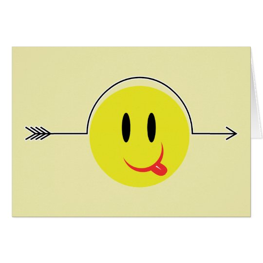Smiley Face - Yellow Pop Fashion Gag Icon Card