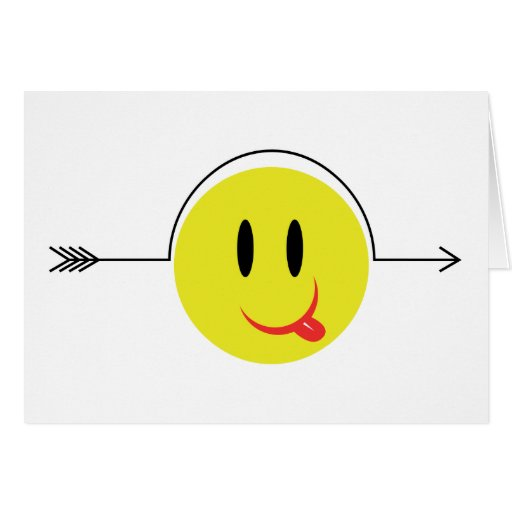Smiley Face - Yellow Pop Fashion Gag Icon Greeting Card