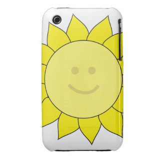 Smiley-Faced Sunflower Case-Mate iPhone 3 Case