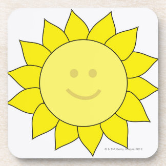 Smiley-Faced Sunflower Drink Coaster