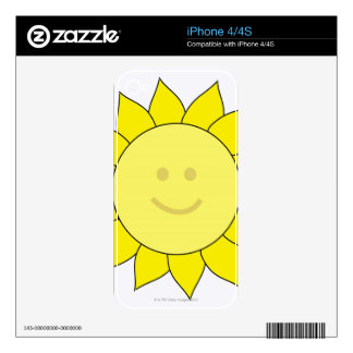 Smiley-Faced Sunflower Decals For iPhone 4