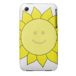 Smiley-Faced Sunflower iPhone 3 Cover