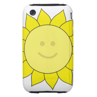 Smiley-Faced Sunflower iPhone 3 Tough Case