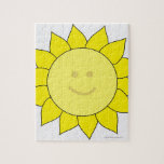 Smiley-Faced Sunflower Jigsaw Puzzle