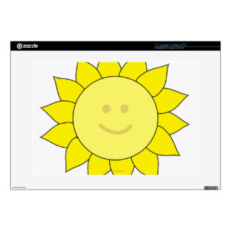 Smiley-Faced Sunflower Laptop Decals