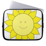 Smiley-Faced Sunflower Laptop Sleeve