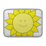 Smiley-Faced Sunflower MacBook Sleeve