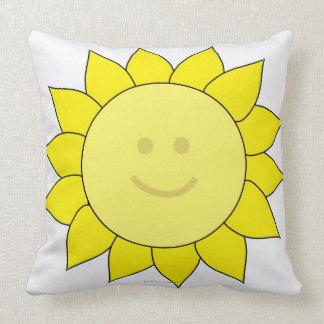 Smiley-Faced Sunflower Pillows