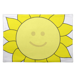 Smiley-Faced Sunflower Placemats