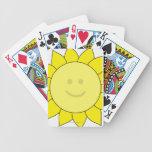 Smiley-Faced Sunflower Poker Deck
