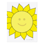 Smiley-Faced Sunflower Postcard