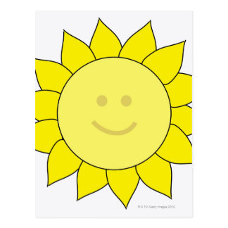 Smiley-Faced Sunflower Postcards