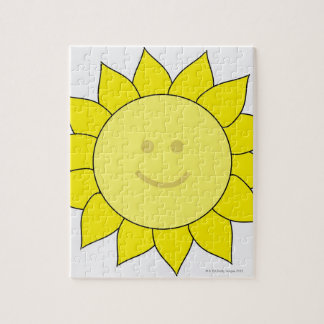 Smiley-Faced Sunflower Puzzle