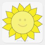 Smiley-Faced Sunflower Sticker
