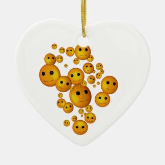 Smiley Faces Ceramic Ornament