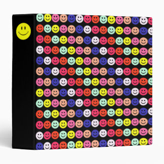 Smiley Faces Collage 3 Ring Binder