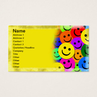 Smiley Faces Collage Business Card