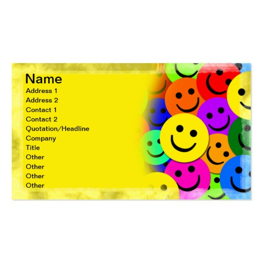 smiley face business card templates