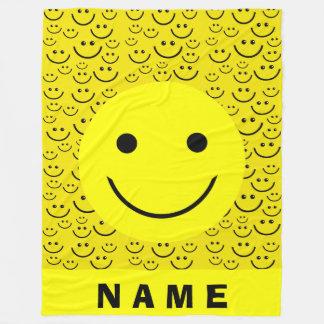 Smiley Faces Fleece Blanket