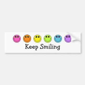 Smiley Faces Keep Smiling Bumper Sticker