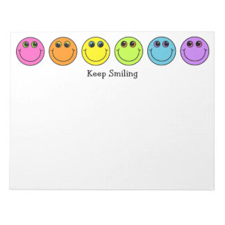 Smiley Faces Keep Smiling Notepad