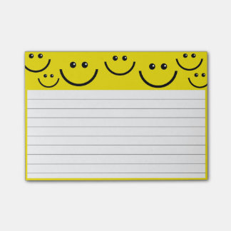 Smiley Faces, Lined Paper Post-it Notes