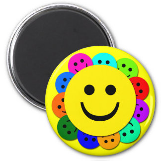 SMILEY FACES MAGNET
