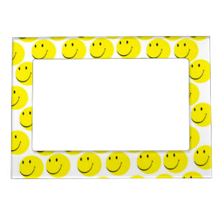 smiley faces magnetic photo frame