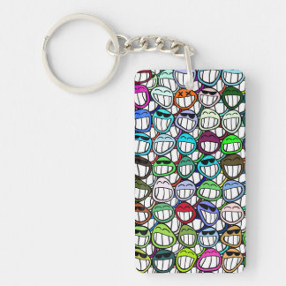Smiley Faces Pattern Keychain