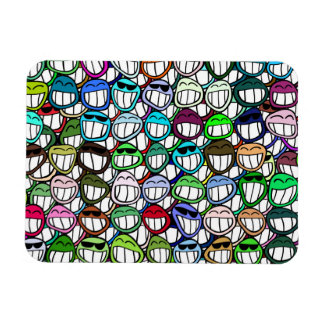 Smiley Faces Pattern Magnet