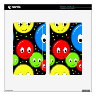 Smiley faces - pattern skin for kindle fire