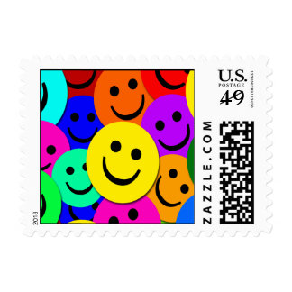 Smiley Faces Postage Stamp