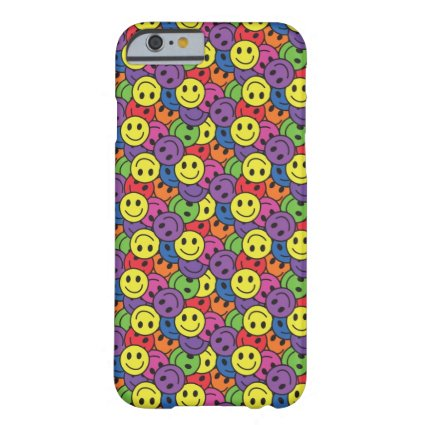 Smiley Faces Retro Hippy Pattern Barely There iPhone 6 Case