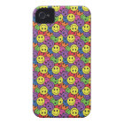 Smiley Faces Retro Hippy Pattern iPhone 4 Case-Mate Case