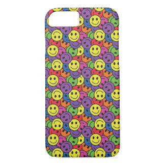 Smiley Faces Retro Hippy Pattern iPhone 7 Case