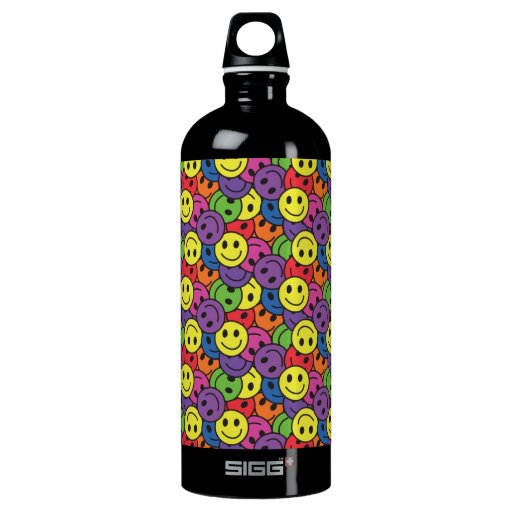Smiley Faces Retro Hippy Pattern SIGG Traveler 1.0L Water Bottle