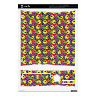 Smiley Faces Retro Hippy Pattern Xbox 360 S Decals