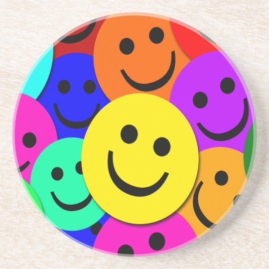 Smiley Faces Sandstone Coaster