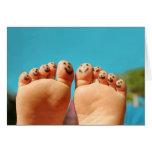 Smiley Feet Greeting Card