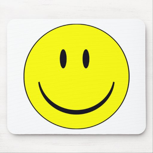 smiley feliz alfombrilla de ratón