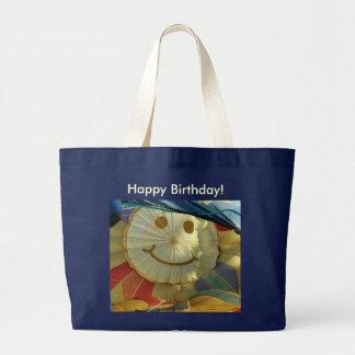 ¡Smiley, feliz cumpleaños! Bolsa Tela Grande