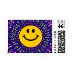 Smiley feliz del hippy de Psychedlic