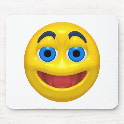 Smiley feliz del smilie alfombrilla de ratón