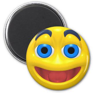 Smiley feliz del smilie imán de frigorífico