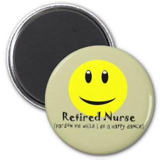 SMILEY FELIZ jubilado de la DANZA de la enfermera Imán Redondo 5 Cm