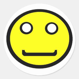 Smiley feliz pegatina redonda