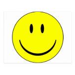 smiley feliz postal