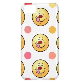 Smiley feliz y lunares carcasa iPhone 5C