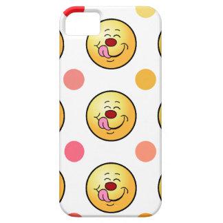 Smiley feliz y lunares funda para iPhone SE/5/5s
