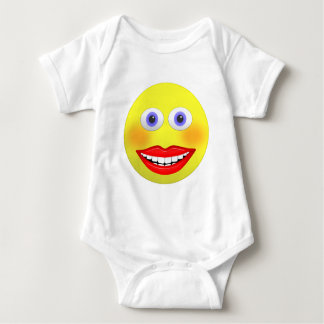 Smiley Female With Big Smile Baby Jersey Bodysuit